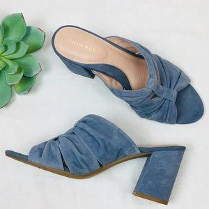 Taryn Rose blue suede sandal!
